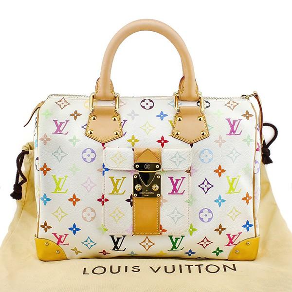1a9561452486 100% AUTHENTIC LOUIS VUITTON SPEEDY 30 MULTICOLOR MONOGRAM BOSTON HAND BAG  ...