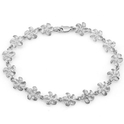 PRICELESS PLATINUM OVER 0.925 STERLING SILVER BRACELET