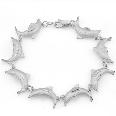 PRETTY PLATINUM OVER 0.925 STERLING SILVER BRACELET