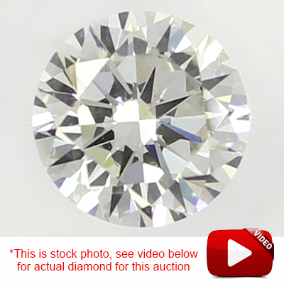 (See Video Inside)<B>DEA - </B>EXCLUSIVE CLOSEOUT DEAL! 3/4 CARAT GENUINE DIAMOND LOOSE (FINAL BATCH)(THIS PHOTO IS USED AS A STOCK PHOTO)