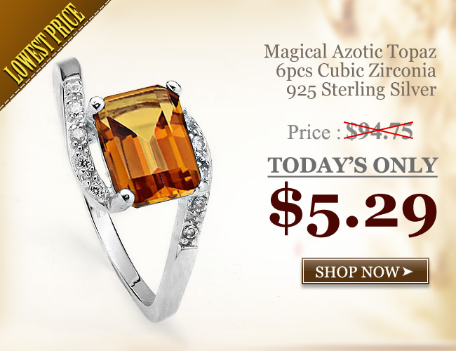 PRETTY 1.57 CARAT AZOTIC GEMSTONE WITH CUBIC ZIRCONIA PLATINUM OVER 0.925 STERLING SILVER RING
