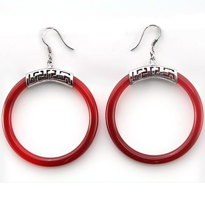 STUNNING FASHION DESIGN 0.925 STERLING SILVER DROP EARRNGS