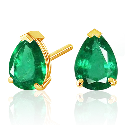 5X7 EMERALD 14KT YELLOW GOLD