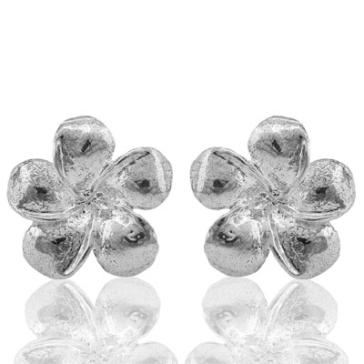 DAZZLING PLATINUM OVER 0.925 STERLING SILVER EARRINGS