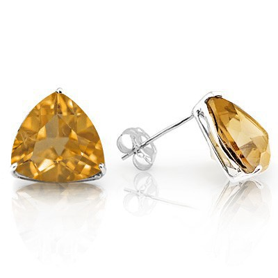 ALLURING CITRINE 0.925 STERLING SILVER W/ PLATINUM EARRINGS