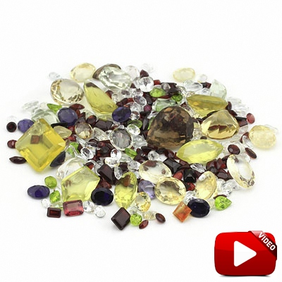 COLOSSAL 500 CARAT GENUINE GEMSTONES LOT!! VARIETY SIZES & SHAPES