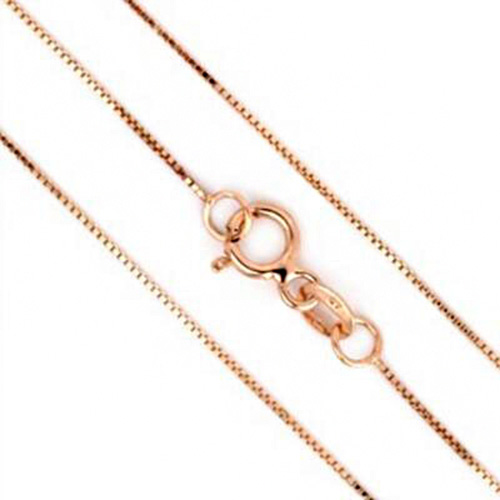 PRECIOUS 14K <b><u>SOLID</b></u> ROSE GOLD NECKLACE