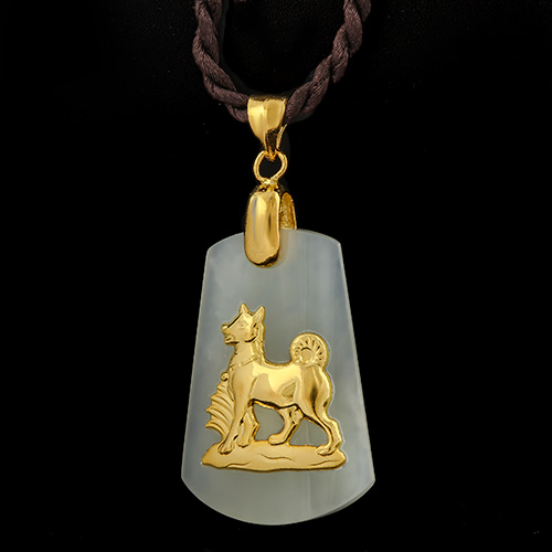 Jewelryroomcom MARVELOUS 24K GOLD PLATED DOG OF CHINESE ZODIAC