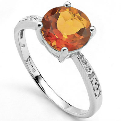 EXCLUSIVE 1.7 CARAT AZOTIC GEMSTONE & DOUBLE GENUINE DIAMONDS PLATINUM OVER 0.925 STERLING SILVER RING