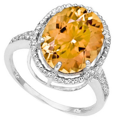 MONSTER 4.09 CT FIRE TOPAZ DOUBLE WHITE DIAMOND 0.925 STERLING SILVER W/ PLATINUM RING