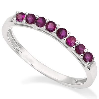 SPLENDID 0.41 CT GENUINE RUBY 0.925 STERLING SILVER W/ PLATINUM RING