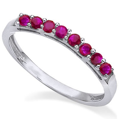 EXOTIC GENUINE RUBY 0.925 STERLING SILVER W/ PLATINUM RING