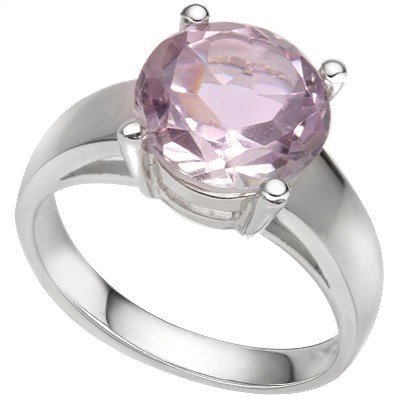 CAPTIVATING 3.00 CT ROSE DE FRANCE PINK AMETHYST 0.925 STERLING SILVER W/ PLATINUM RING