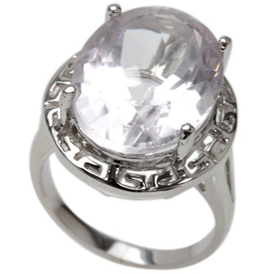 12.00 CT AMETHYST 0.925 STERLING SILVER W/ PLATINUM RING