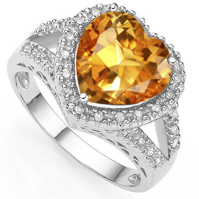 SMASHING 0.43 CARAT AZOTIC GEMSTONE WITH DOUBLE GENUINE DIAMOND PLATINUM OVER 0.925 STERLING SILVER RING