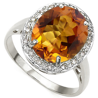 GREAT 5 CARAT AZOTIC GEMSTONE WITH GENUINE DIAMONDS PLATINUM OVER 0.925 STERLING SILVER RING