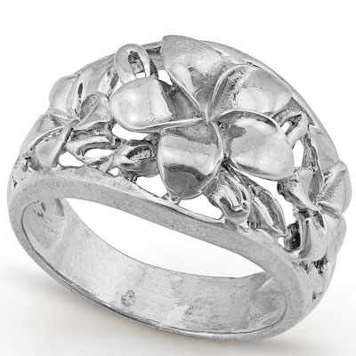 CAPTIVATING PLATINUM OVER 0.925 STERLING SILVER RING