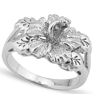 ALLURING PLATINUM OVER 0.925 STERLING SILVER RING