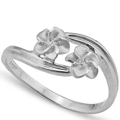 STUNNING PLATINUM OVER 0.925 STERLING SILVER RING