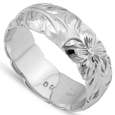 DAZZLING PLATINUM OVER 0.925 STERLING SILVER RING