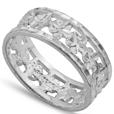 LOVELY PLATINUM OVER 0.925 STERLING SILVER RING