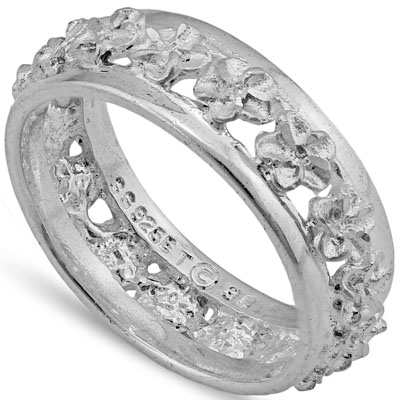 MARVELOUS PLATINUM OVER 0.925 STERLING SILVER RING