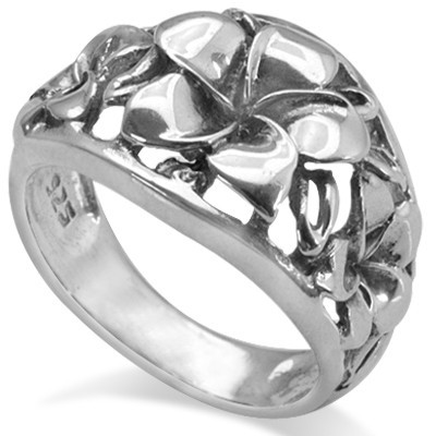 SPECIAL!  ELEGANT FLOWER DESIGN 0.925 STERLING SILVER RING