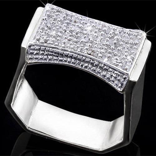 1/2 CARAT (93 PCS) DIAMOND STERLING SILVER RING