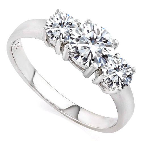 1.83 CARAT DIAMOND MOISSANITE (VS) 14KT