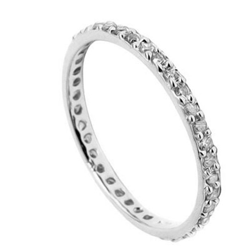 PERFECT 0.2 CARAT TW (38 PCS) GENUINE DIAMOND 10K <b><u>SOLID</b></u>  WHITE GOLD RING