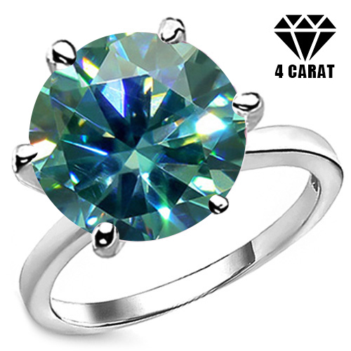 Jewelryroom.com - 2.58 CT FANCY BLUE DIAMOND MOISSANITE ...