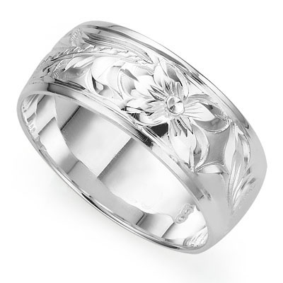 BEAUTIFUL CRAFTED TRADITIONAL HAWAIIAN RING WITH 0.925 STERLING SILVER