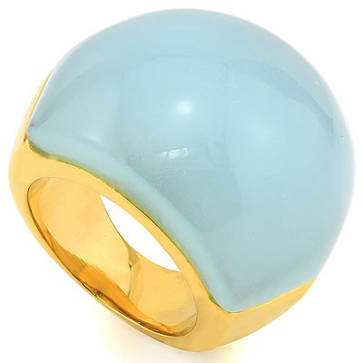ADORABLE BABY BLUE HEAVY STAINLESS STEEL RING