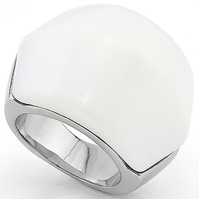 FABULOUS COTTON WHITE HEAVY STAINLESS STEEL RING