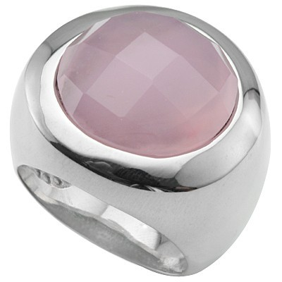 MASSIVE CHECKERBOARD PINK HEAVY STAINLESS STEEL RING