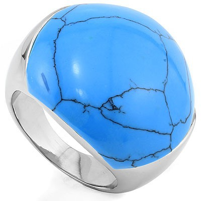 BLOODLINE BLUE HEAVY STAINLESS STEEL RING