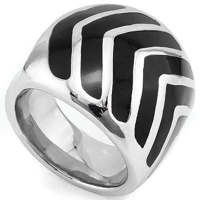 PRETTY HEAVY STAINLESS STEEL RING