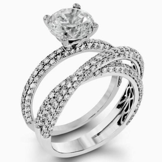 CREATED DIAMONDS GERMAN SILVER WEDDING