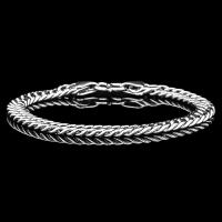 IRRESISTIBLE ! 8 INCHES 8MM 925 STERLING SILVER ID CURB BRACELET