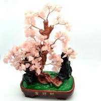 SUPERB ! NATURAL ROSE QUARTZ CRYSTAL TREE OF ATTACKING LUCK