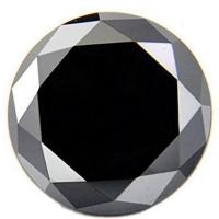PRECIOUS ! 1.24-1.35 CARAT BLACK DIAMOND MOISSANITE S1 BRILLIANT CUT LOOSE