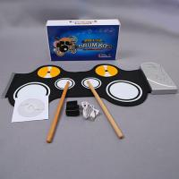 MARVELOUS !   PORTABLE ELECTRONIC ROLL UP DRUM KIT WITH POWER SUPPLY & DRUM STICKS