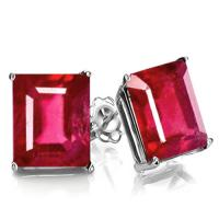 2.25 CARAT AFRICAN RUBY 10KT SOLID GOLD EARRINGS STUD