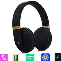 SUPERB ! WIRELESS BLUETOOTH RECHARGEABLE FOLDING HEADPHONES WITH BUILT IN MIC