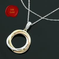 MAGNIFICENT !  DIAMOND 10KT SOLID GOLD NECKLACE