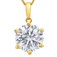 FEMININE ! 1.75 CARAT FLAWLESS CREATED DIAMOND 14KT SOLID GOLD PENDANT