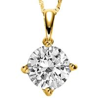BRILLIANT !   1/3 CARAT DIAMOND 14KT SOLID GOLD PENDANT