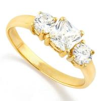 EXQUISTE ! 1.85 CARAT FLAWLESS CREATED DIAMOND 14KT SOLID GOLD ENGAGEMENT RING