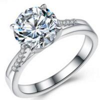 LUXURIANT ! 3.64 CARAT (13 PCS) FLAWLESS CREATED DIAMOND SOLITAIRE 925 STERLING SILVER ENGAGEMENT RING