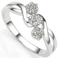 BEAUTIFUL ! (21 PCS) DIAMOND 10KT SOLID GOLD RING